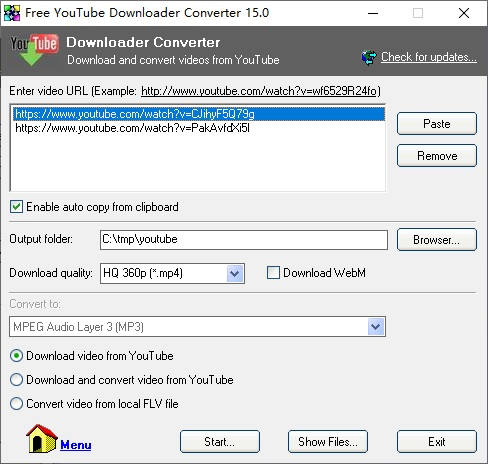 Free YouTube Downloader Converter 13.5